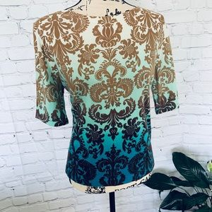 CHARTER CLUB Gorgeous and Uniquely Aqua Ombré Top